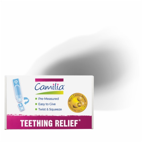 Boiron Camilia Teething Relief Liquid Doses Perspective: top