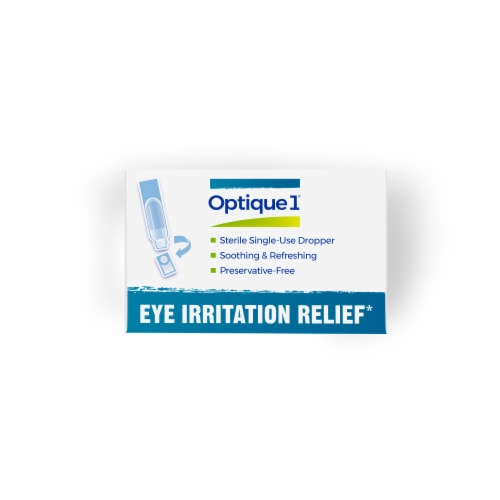 Boiron® Optique 1® Eye Irritation Relief Homeopathic Eye Drops Perspective: top