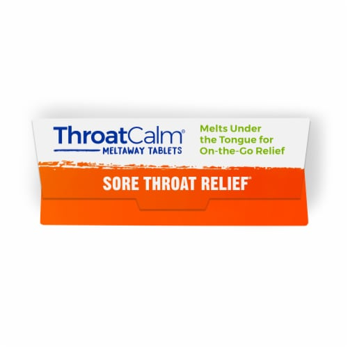 Boiron ThroatCalm Sore Throat Relief Meltaway Tablets Perspective: top