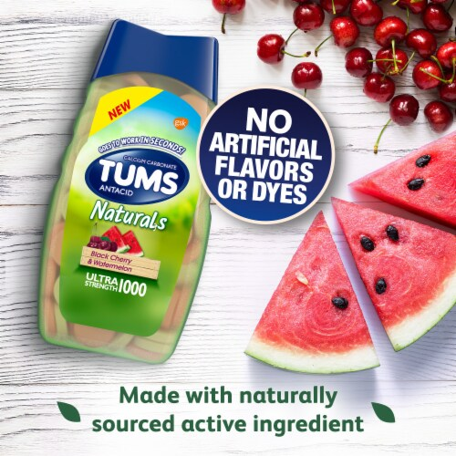 Tums Naturals Black Cherry Watermelon Antacid Tablets Perspective: top