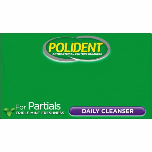 Polident Partials Antibacterial Denture Cleanser Tablets Perspective: top