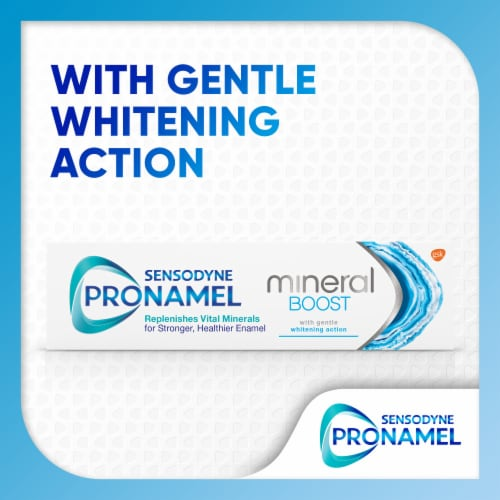 Sensodyne Pronamel Mineral Boost Whitening Toothpaste Perspective: top