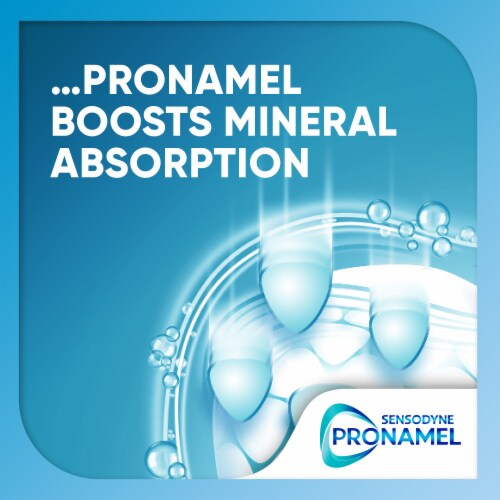 Sensodyne Pronamel Mineral Boost Peppermint Toothpaste Perspective: top