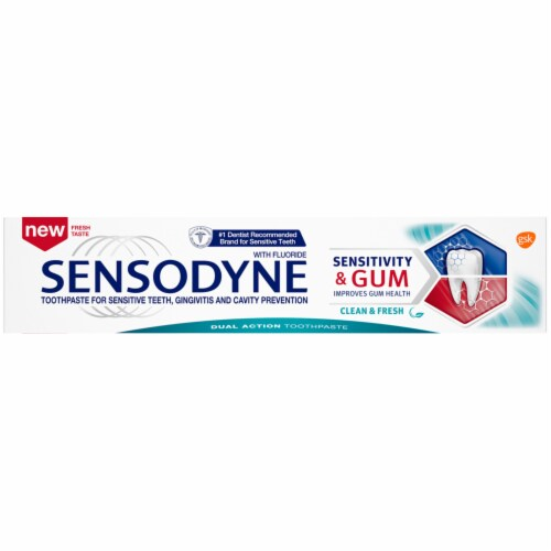 Sensodyne Sensitivity and Gum Clean and Fresh Toothpaste Perspective: top
