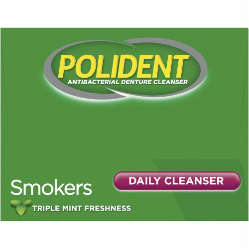 Polident Smokers Denture Cleanser Tablets Perspective: top