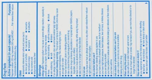 Aleve Arthritis Naproxen Sodium Liqui-Gels 220mg Perspective: top