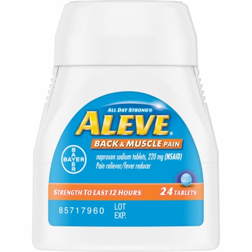 Aleve All Day Strong Back & Muscle Pain Relief Tablets 24 Count Perspective: top