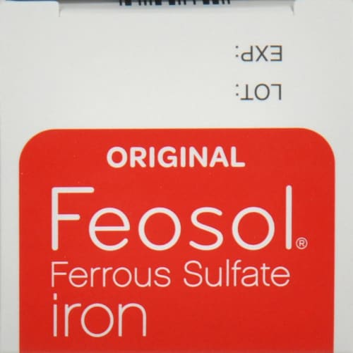 Feosol Original Ferrous Sulfate Iron Supplement Perspective: top
