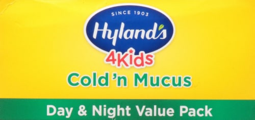 Hyland's 4 Kids Homeopathic Cold'n Mucus Day & Night Value Pack Perspective: top