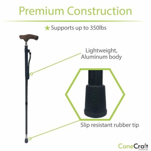 Carbon Fiber Ultra Lightweight Adjustable Cane - Black Perspective: top
