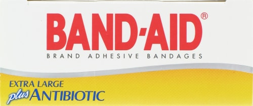 Band-Aid Infection Defense with Neosporin Large Bandages Perspective: top