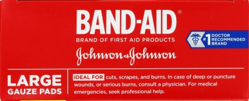 Band-Aid Large Gauze Pads 10 Count Perspective: top