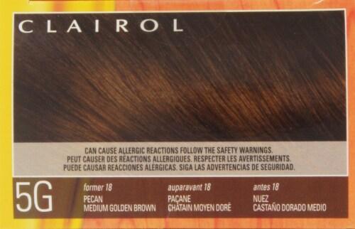 Clairol Natural Instincts Pecan Medium Golden Brown Hair Color Perspective: top