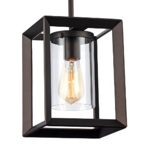 IRONCLAD Industrial-style 1 Light Rubbed Bronze Ceiling Mini Pendant 7  Shade Perspective: top