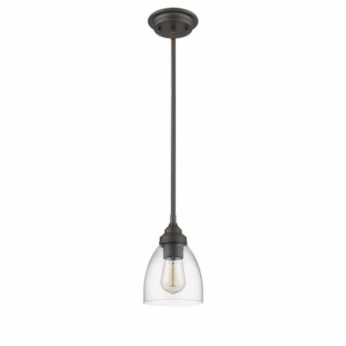 CHLOE Lighting ELISSA Transitional 1 Light Rubbed Bronze Ceiling Mini Pendant 6  Wide Perspective: top