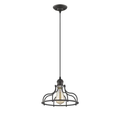 JAXON Industrial-style 1 Light Rubbed Bronze Ceiling Mini Pendant 10  Wide Perspective: top