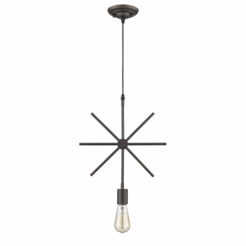 IRONCLAD Industrial-style 1 Light Rubbed Bronze Ceiling Mini Pendant 13  Wide Perspective: top