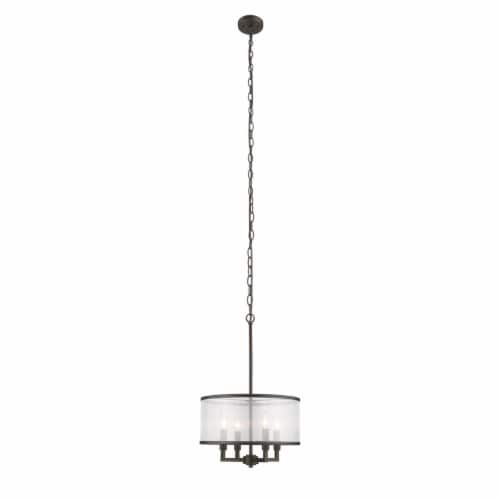 Lighting VALENTINA Transitional 4 Light  Rubbed Bronze Ceiling Pendant 16  Wide Perspective: top