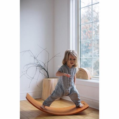 Kinderfeets Original Kinderboard Versatile Waldorf Wood Balance Board, Bamboo Perspective: top