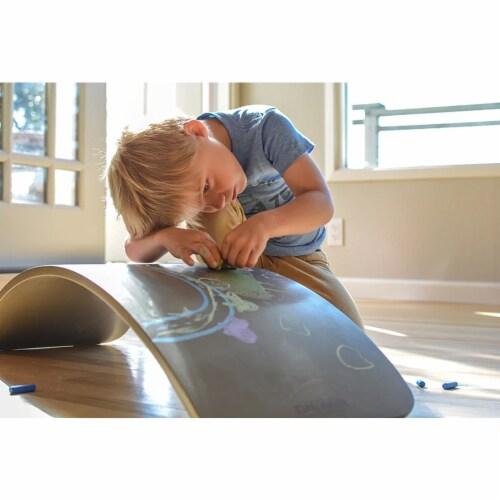 Kinderfeets Original Kinderboard Versatile Wood Balance Board, Chalkboard Perspective: top