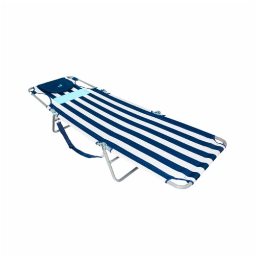 Ostrich Comfort Lounger Face Down Sunbathing Chaise Lounge Beach Chair, Stripes Perspective: top