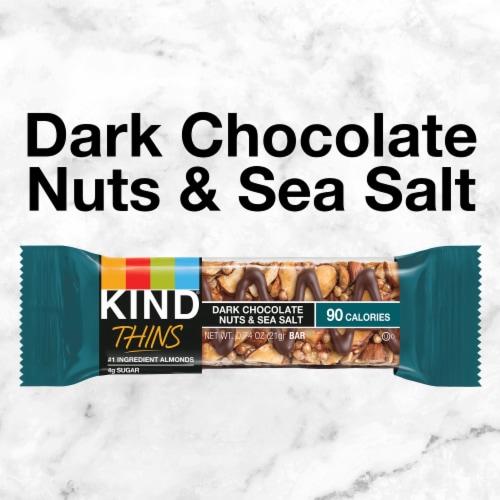 KIND Thins Dark Chocolate Nuts & Sea Salt Bars Perspective: top