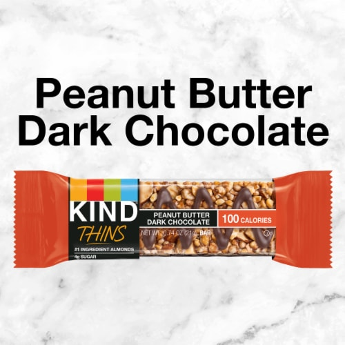 KIND Thins Peanut Butter Dark Chocolate Bars Perspective: top
