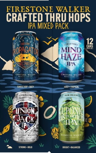 Firestone Walker IPA Mix Variety Pack Beer Perspective: top