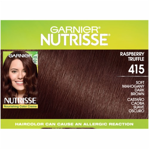Garnier® Nutrisse® 415 Soft Mahogany Dark Brown Hair Color Perspective: top