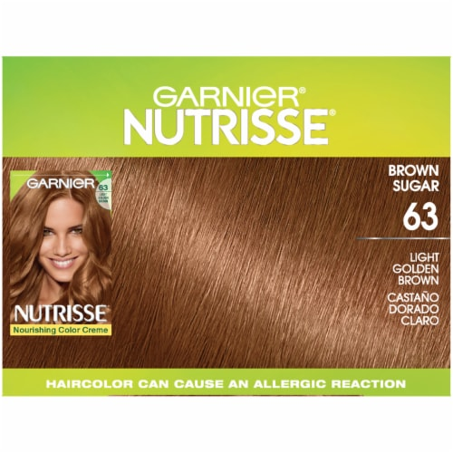 Garnier Nutrisse 63 Light Golden Brown Nourishing Color Creme Hair Color Perspective: top