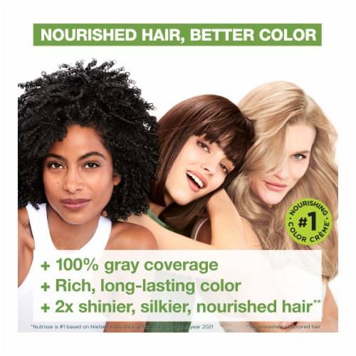 Garnier® Nutrisse® Nourishing Color Creme 10 Licorice Black Hair Color Perspective: top