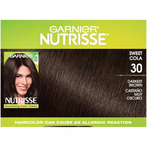 Garnier® Nutrisse® Nourishing Color Creme Sweet Cola 30 Darkest Brown Permanent Hair Color Perspective: top