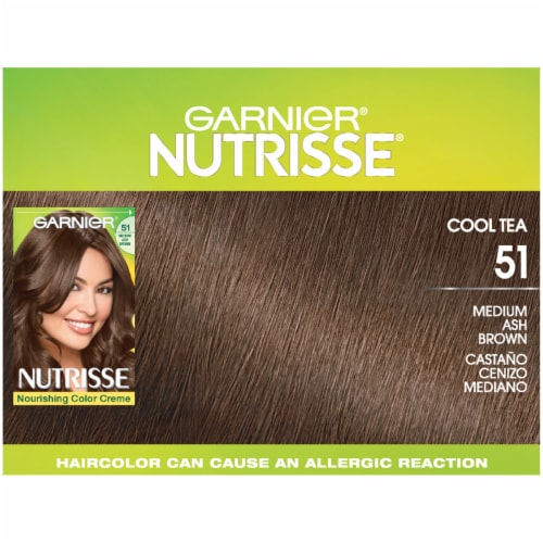 Garnier Nutrisse Nourishing Color Creme 51 Medium Ash Brown Permanent Hair Color Perspective: top