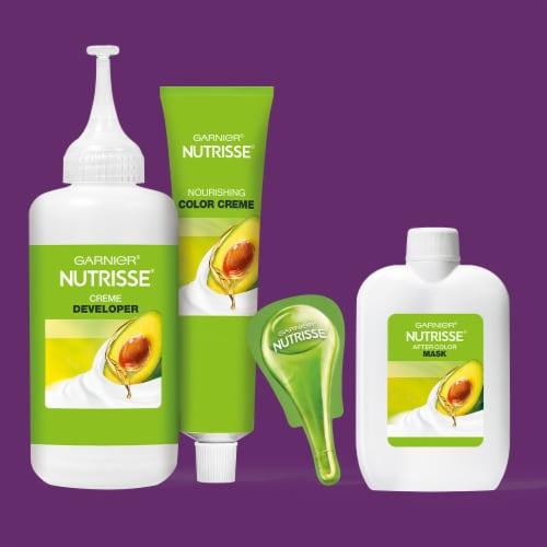 Garnier Nutrisse Ultra Color LB2 Ultra Light Natural Blonde Permanent Hair Color Perspective: top