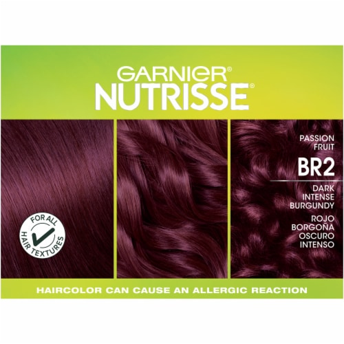 Garnier Nutrisse Ultra Color BR2 Dark Intense Burgundy Nourishing Color Creme Hair Color Perspective: top