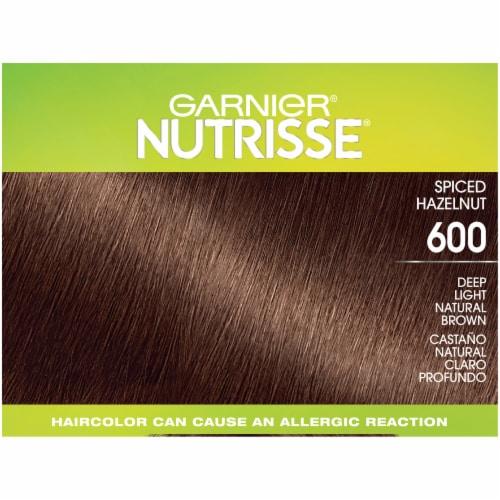 Garnier Nutrisse Ultra Coverage 600 Spiced Hazelnut Hair Color Perspective: top