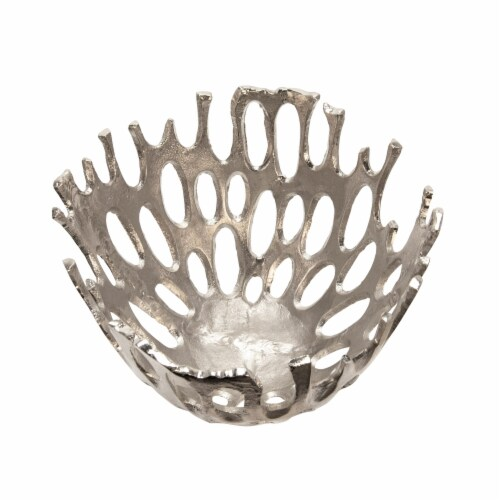 14  Cut-Out Bowl, Silver Perspective: top