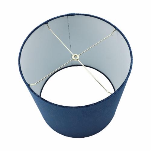 Ceramic 36.25  Log Table Lamp, Blue Perspective: top