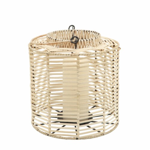 Rattan, S/2 15/18  Hurricane Candle Holder, Nat Perspective: top