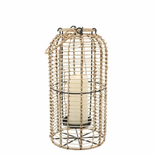 Rattan, S/2 10/13  Hurricane Candle Holder, Nat Perspective: top