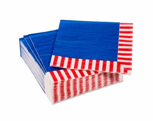 American Greetings Patriotic Paper Napkins Perspective: top