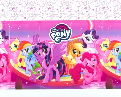 American Greetings My Little Pony Pink Plastic Table Covers Perspective: top