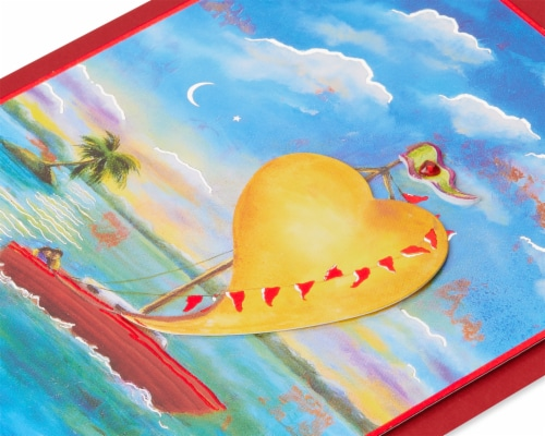 Papyrus Anniversary Card (Sailboat) Perspective: top