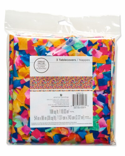 American Greetings Confetti Birthday Table Cover Perspective: top