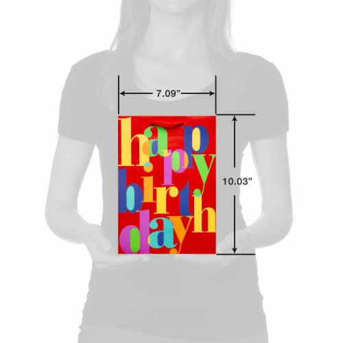 American Greetings #6 Birthday Lettering Gift Bag Perspective: top