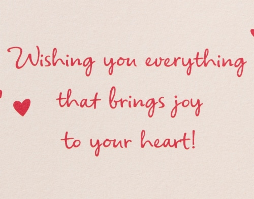 American Greetings #58 Valentine's Day Cards (Joy to Your Heart) Perspective: top