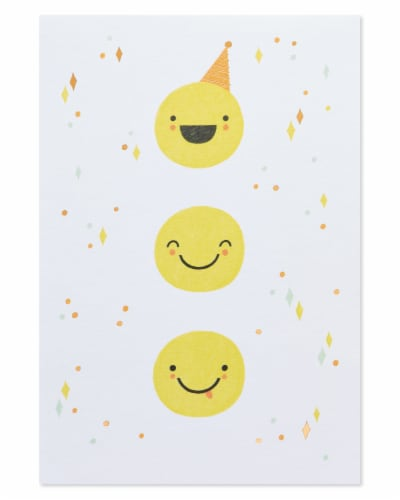 American Greetings #62 Birthday Card (Smiley Faces) Perspective: top