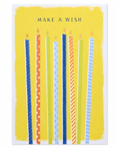 American Greetings #60 Birthday Card (Make a Wish) Perspective: top