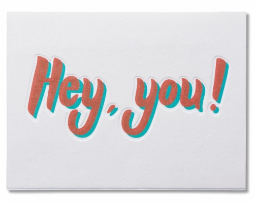 American Greetings Funny Miss You Card (Miss Your Face) Perspective: top