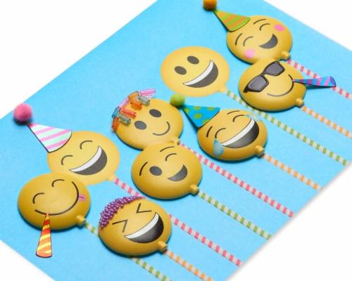 Papyrus #45 Birthday Card (Emojis) Perspective: top